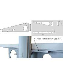 Slim Bureaubladsteun - Kleuren: Aluminium, Zwart en Wit - Set L/R