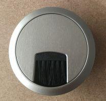 Kabeldoorvoer - Kunststof - ø 60 of 80 mm - RVS kleur - Borstelafdichting