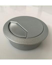 Kabeldoorvoer - Kunststof - Twee maten ø 60 - 80 mm - Zilver