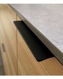 Greep - Zamak - Zwart mat  - Drie Lengtes: 71 t/m 231 mm