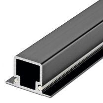 Smartcube Profiel voor 2 Liggers - Zwart en Inox Look - Lengte: 2500 mm