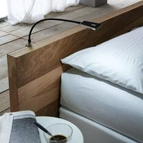 Flexibele Bed-lamp - Area Light - Kunststof-RVS - Twee kleuren - Set