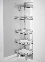 Tandem Solo Uittrekelement - Inbouwhoogte: 1400 mm - Zilver