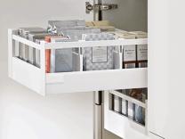 Voorgemonteerd - Binnenlade - Blum Antaro D-M - Blumotion - Inbouw-hoogte: 22.8 cm - Zijwandhoogte: 8.36 cm
