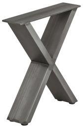 Bank-onderstel - Industrieel - X-Vorm - Ruw Staal Gelakt - 420 x 400 mm (hxb) - Met Stelpootjes