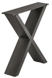 Bank-onderstel - Industrieel - X-Vorm - Zwart - 420 x 400 mm (hxb) - Met Stelpootjes