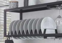 Wesco Smart Bordenrek - Zwart Aluminium