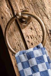 Handdoekring Puur - Ruw Brons - Koperkleurig