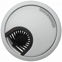 Kabeldoorvoer - Metaal - Twee maten 60 - 80 mm! - Chroom Mat