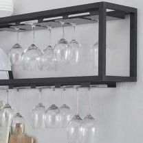 Wesco Smart Glazenrek - Zwart Aluminium