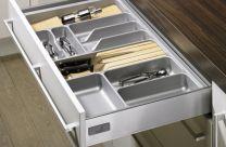 Orga Tray - Bestekbak - Kunststof - Lade-diepte: 441 mm / 520 mm. Hoogte - 55 mm - Zilvergrijs