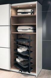 Het uittreksysteem voor de schoenenkast - Twee hoogtes