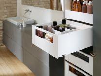 """Binnenvoorraadlade - Blum Legrabox C - Met Reling """"Blumotion"""" Inbouwhoogte: 19.1 cm"""
