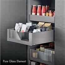 """Voorgemonteerd  Binnenlade - Legrabox  M - Met Glas - """"Blumotion"""" Inbouwhoogte: 10.6 cm"""