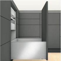 """Voorgemonteerd  Legrabox F """"Tip-On Blumotion"""" Inbouw-hoogte: 25.7 cm"""