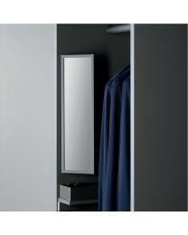 Spiegel Draaibaar - Hoogte: 484 mm - Breedte: 139 mm - Antraciet