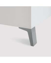 Meubelpoot - Zamac - Grijs - Hoogte verstelbaar - Hoogte: 100 x 50 mm