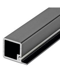 Smartcube Profiel voor 1 Ligger - Zwart en Inox Look - Lengte: 2500 mm