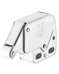 Mini-Latch Snapper met Veersluiting - Vernikkeld