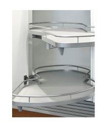LeMans II - 50 cm - Wit Zilver Mat