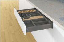Orga Tray - Bestekbak - Kunststof - Lade-diepte: 441 mm / 520 mm. Hoogte - 55 mm - Antraciet