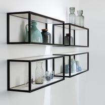 Smartcube Set - Meubelwand-systeem - Aluminium - Zwart - Hoogte: 450 mm