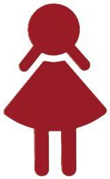 Meisjes/Dames - Weersbestendig Polyamide - 16 Kleuren - Hoogte: 15 cm