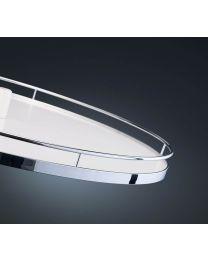 Set Revo 90 draaibodems - Arena Classic Plus - Anti-slip - Voor kast 800x800 mm. Chroom/Wit