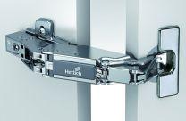 Hettich Sensys- met pot in Intermat-design - Half Opliggend - 165° - Veer