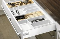 Orga Tray - Bestekbak - Kunststof - Lade-diepte: 441 mm / 520 mm. Hoogte - 55 mm - Wit